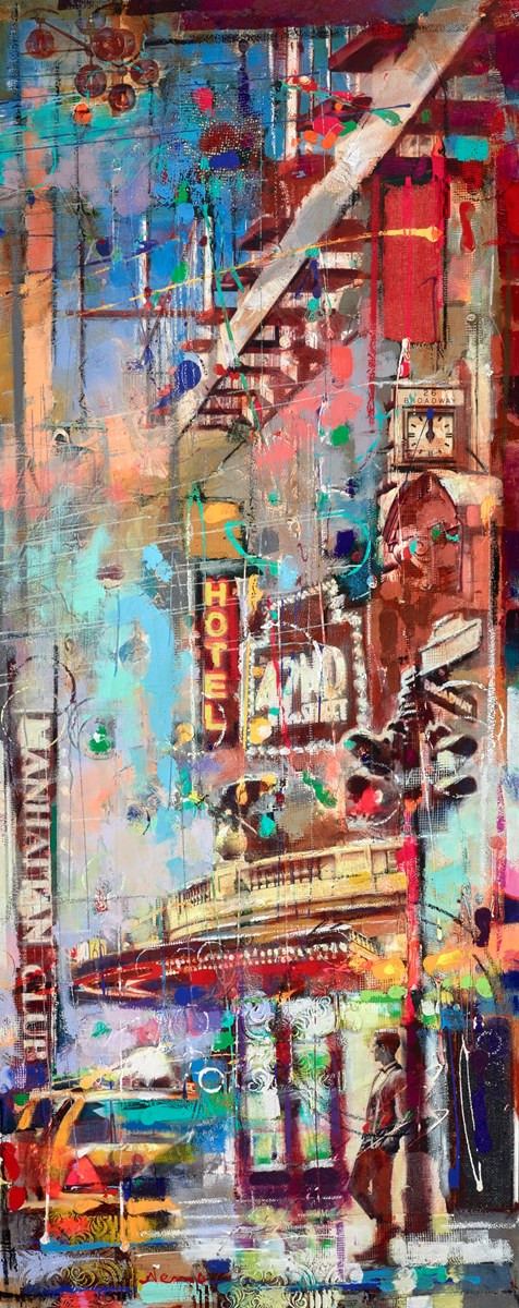 Brooklyn Diner at Night III by nemo -  sized 24x60 inches. Available from Whitewall Galleries